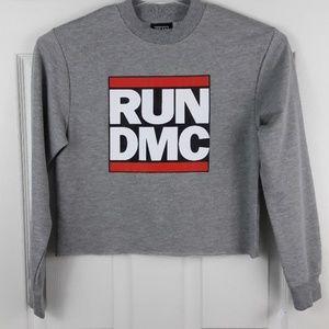 RUN DMC Cropped Sweatshirt Sz. XS NWOT